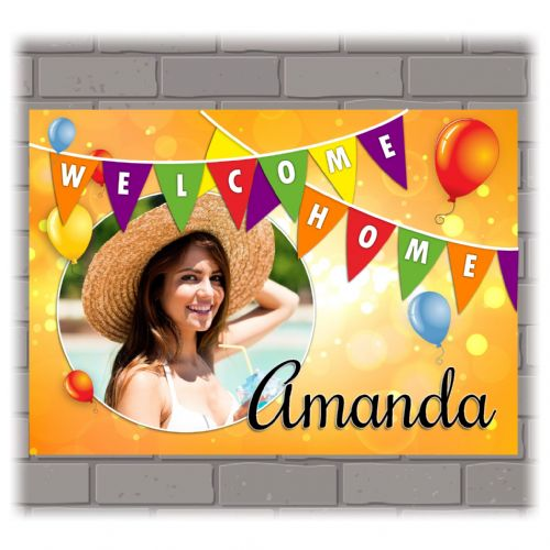 Personalised Welcome Home PHOTO Poster Banner N212